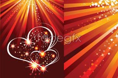 Link toValentine's day glitter hearts and ray vector