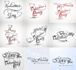 Link toValentine's day handwriting fonts vector