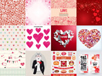 Link toValentine's day heart background vector