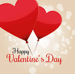 Link toValentine's day heart balloon greeting vector