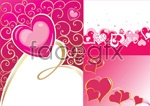 Link toValentine's day heart shaped backgrounds vector