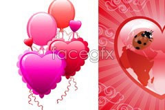 Valentine's day heart shaped balloons eps vector