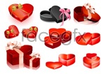 Link toValentine's day heart-shaped gift box vector