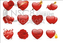 Link toValentine's day heart shaped icons