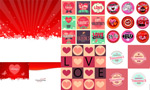 Valentine's day heart shaped ribbon vector