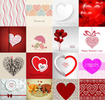 Valentine's day heart-shaped shades vector
