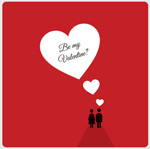 Link toValentine's day heart-shaped silhouette vector