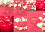 Link toValentine's day heart shaped with the english vector