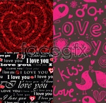Link toValentine's day hearts backgrounds vector