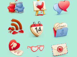 Link toValentine s day icon set