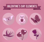 Link toValentine's day icons vector