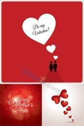 Link toValentine's day invitation cards vector