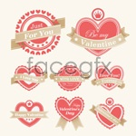 Link toValentine's day labels vector