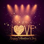 Valentine's day love wordart vector