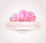 Link toValentine's day pattern of love vector