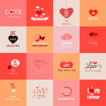 Valentine's day poster background vector