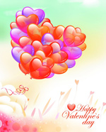 Link toValentine's day, romantic balloon psd