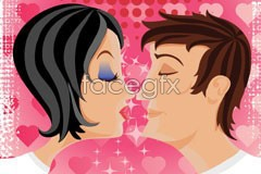 Link toValentine's day romantic wallpapers vector