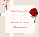 Link toValentine's day roses greeting cards vector