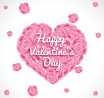 Link toValentine's day roses of love vector