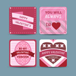Link toValentine's day round card vector