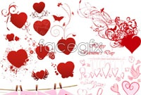 Link toValentine's day theme heart pattern