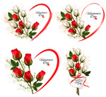 Link toValentine's day with roses vector