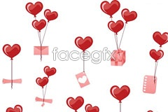 Link toValentine's greetings balloon vector