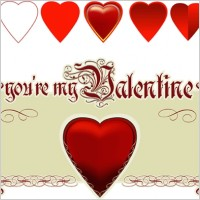 Link toValentine's heart vector
