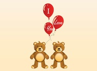 Link toValentine teddy bears vector free