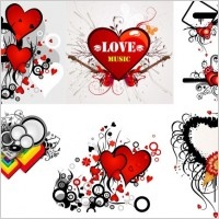 Link toValentineu0026#39;s day heart-shaped theme trend vector illustration