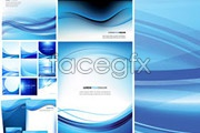Link toVariety of active blue lines background vector