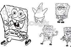 Link toVariety of adorable spongebob cartoon vector