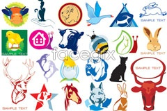 Link toVariety of animal theme vector