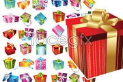 Link toVariety of beautiful and practical gift box vector