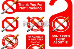 Link toVariety of beautiful designs no smoking sign vector