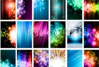 Variety of beautiful fantasy backgrounds vector graphics