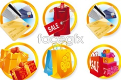 Link toVariety of beautiful shopping icon vector