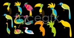 Link toVariety of birds vector
