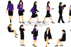 Link tovector silhouette woman business of Variety