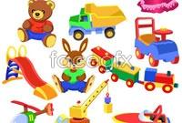 Link toVariety of cartoon children toys vector