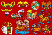 Link toVariety of chinese traditional lucky patterns-vector