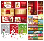 Link toVariety of christmas greeting cards vector