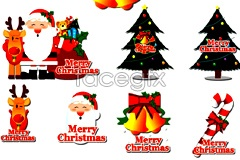 Link toVariety of christmas theme element vector