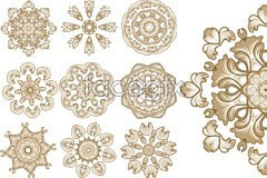 Link toVariety of classical circular pattern vector