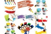 Link toVariety of color paint theme vector