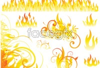 Link toVariety of combustion flame in vector graphics package