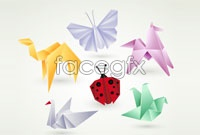 Link toVariety of creative animal origami pattern vector
