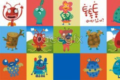 Link toVariety of cute little monster cartoon vector