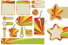 Link tovector tag sticker radiation the shape different of Variety